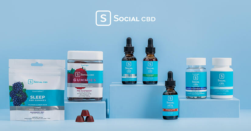 social cbd logo and product examples