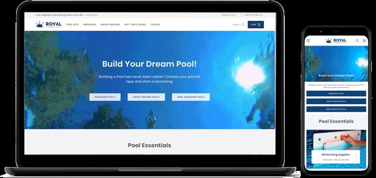 Royal Swimming Pools Website